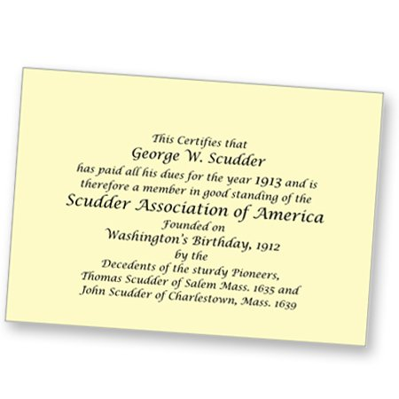Scudder Association Invitation