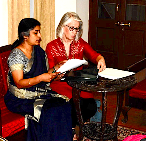 Susan Taylor MD MPH, representing Medical College of Wisconsin (MCW), and Anna Pulimood MD, Principal CMC Vellore, sign a memorandum of understanding between the two institutions, formalizing their collaboration in education, research and patient care.