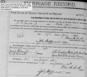 Marriage Record, E. C. Scudder, Jr. to Mabel Jones
