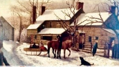 painting of 'The Homestead, 1865, by James Long Scudder'