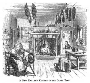 painting of 'A New England Kitchen in the Olden Time'