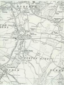 map of Horton Kirby, Kent England