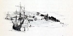 A Wintry Massachusetts Scene