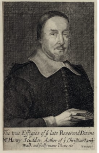 Henry Scudder, 1674 Engraving by William Sherwin