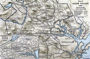 Map of Salem Village, 1692